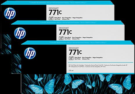 Картридж HP B6Y37A черный фото оригинальный тройная упаковка