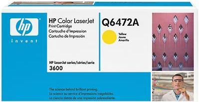 Картридж HP Q6472A желтый оригинальный