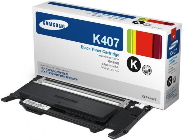 Тонер-Картридж SAMSUNG CLT-K407S черный оригинальный
