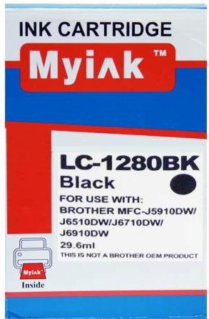 Картридж совместимый MyInk LC1280XLBK черный для Brother