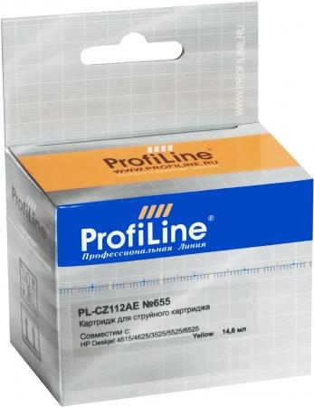 Картридж совместимый ProfiLine CZ112AE №655 для HP желтый