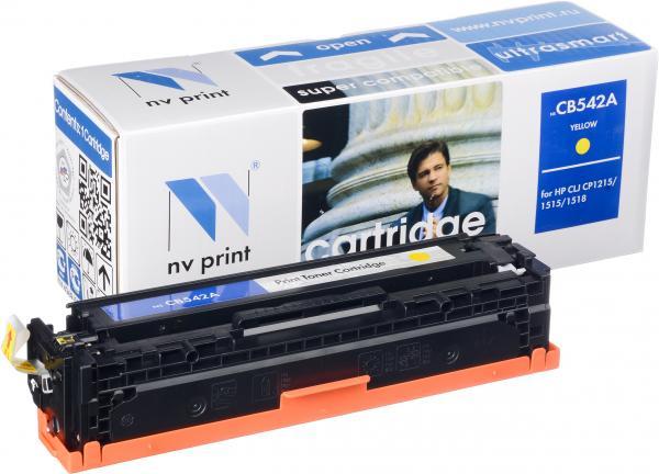 Картридж совместимый NV Print CB542A желтый для HP