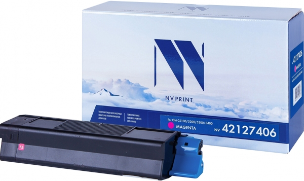 Картридж совместимый NVPrint для Oki пурпурный