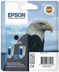Картридж EPSON T007402 черный двойная упаковка оригинальный