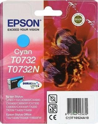 Картридж EPSON T07324A голубой оригинальный