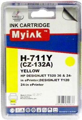 Картридж совместимый MyInk CZ132A желтый для HP