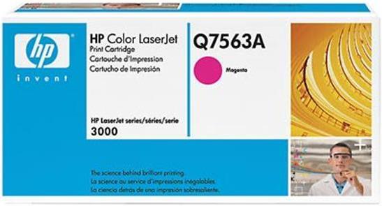Картридж HP Q7563A пурпурный оригинал