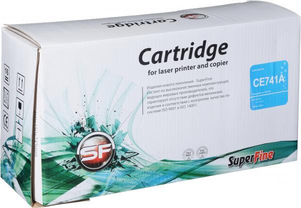 Картридж совместимый SuperFine CE741A голубой для HP