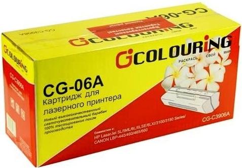 Картридж совместимый Colouring C3906A для HP и Canon