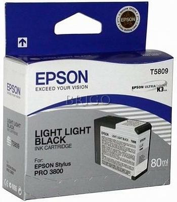 Картридж Epson T5809 (C13T580900) серый оригинальный