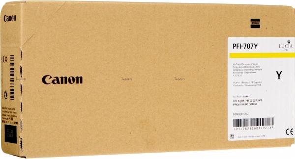 Картридж Canon PFI-707Y желтый оригинальный