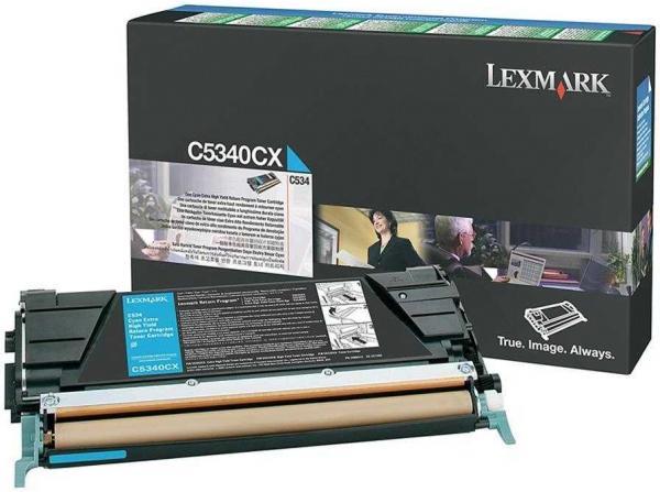 Картридж Lexmark C5340CX голубой оригинальный