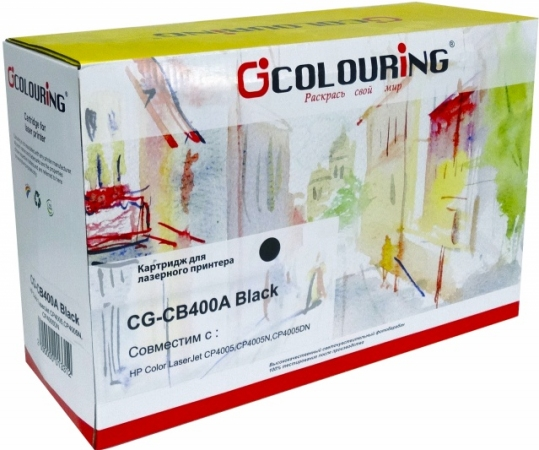 Картридж совместимый Colouring CB400A для HP черный