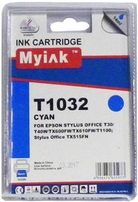 Картридж совместимый MyInk T1032 синий для Epson