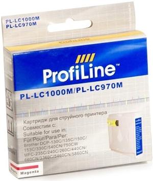 Картридж совместимый ProfiLine LC1000M/LC970M для Brother пурпурный
