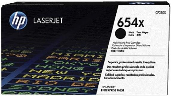 Картридж HP CF330X (654X) черный оригинальный