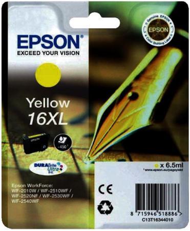 Картридж EPSON C13T16344010 желтый оригинальный