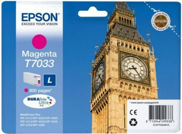 Картридж Epson T7033 (C13T70334010) пурпурный оригинальный