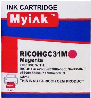 Картридж совместимый MyInk GC31M красный для Ricoh