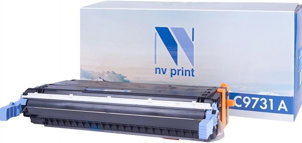 Картридж совместимый NVPrint C9731A для HP голубой
