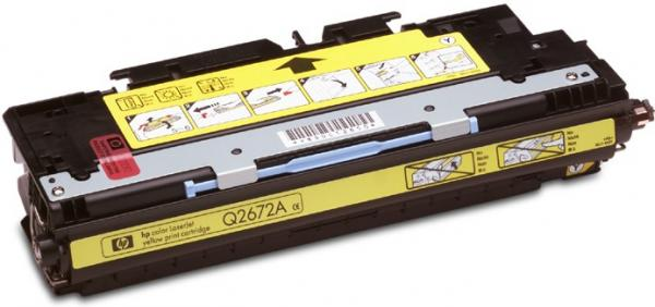 Картридж HP Q2672А желтый оригинальный
