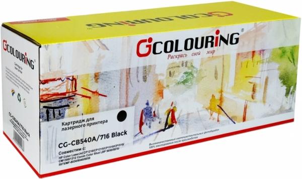 Картридж совместимый Colouring CB540A/716 для HP и Canon черный