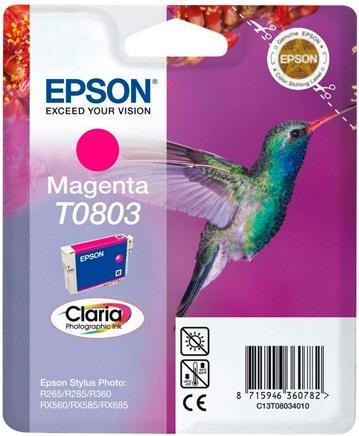 Картридж EPSON C13T08034011 пурпурный оригинальный