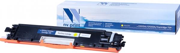 Картридж совместимый NVPrint CE312A/CF352A/Canon 729 для HP и Canon желтый