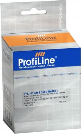 Картридж совместимый ProfiLine C4913A №82 для HP желтый