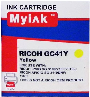Картридж совместимый MyInk GC41Y желтый для Ricoh