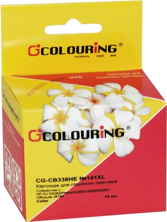 Картридж совместимый Colouring CB338HE №141XL для HP Color