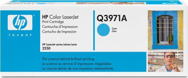 Картридж HP Q3971A голубой оригинальный