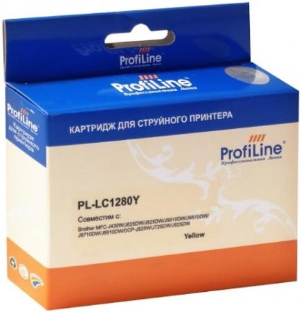 Картридж совместимый ProfiLine LC1280Y для Brother желтый