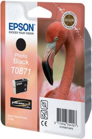 Картридж EPSON T08714010 черный фото оригинальный