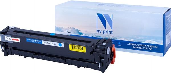 Картридж совместимый NVPrint CF211A/CE321A/CB541A/Canon 716/731 для HP и Canon голубой