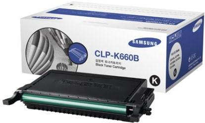 Картридж Samsung CLP-K660B черный оригинальный