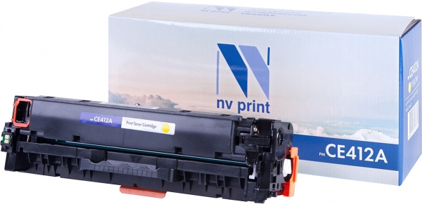 Картридж совместимый NVP CE412A желтый для HP