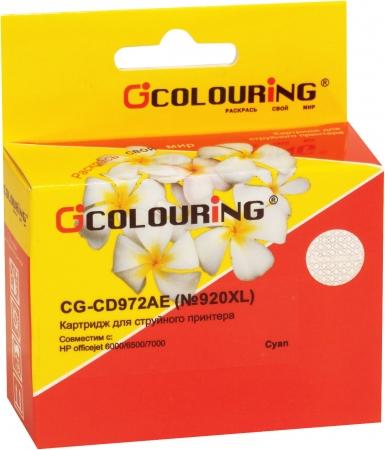 Картридж совместимый Colouring CD972AE №920XL для HP голубой