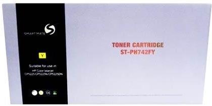 Картридж совместимый Smart Mate CE742A желтый для HP
