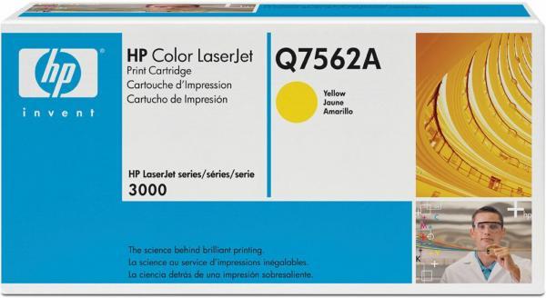 Картридж HP Q7562A желтый оригинал
