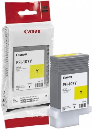 Картридж для Canon PFI-107 Y желтый оригинальный