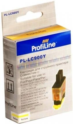 Картридж совместимый ProfiLine LC900Y для Brother желтый