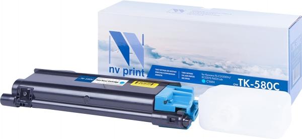 Картридж совместимый NVPrint TK-580 для Kyocera голубой