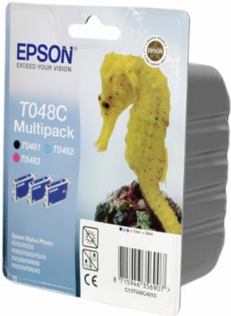 Картридж EPSON C13T048C4010 трехцветный оригинальный