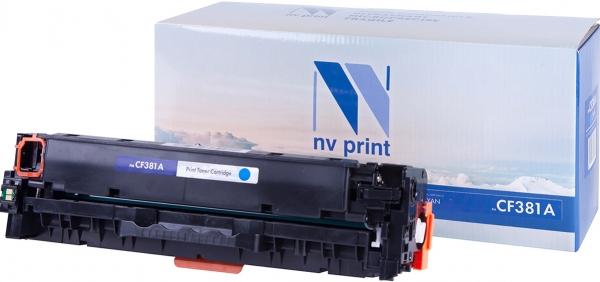 Картридж совместимый NVPrint CF381A для HP голубой