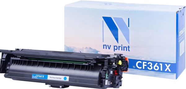 Картридж совместимый NVPrint CF361X для НР голубой