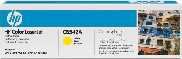 Картридж HP CB542A желтый совместимый