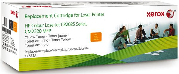 Картридж совместимый Xerox HVD CC532A для HP желтый