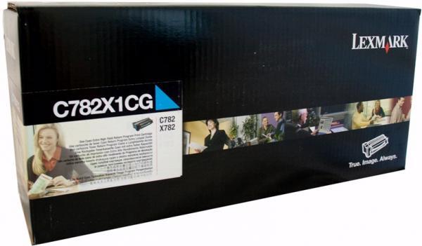 Картридж Lexmark C782X1CG голубой оригинал
