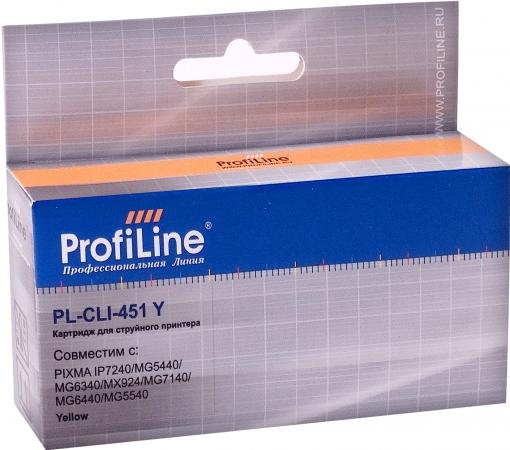 Картридж совместимый ProfiLine CLI-451Y для Canon желтый